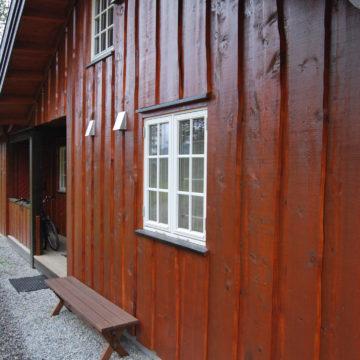 Utvendig villmarkspanel fra Skjåk Trelast